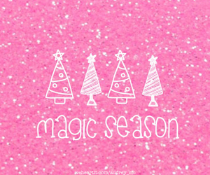 winter, christmas, and pink image