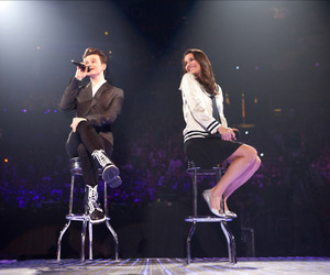 lea michele, glee, and chris colfer image