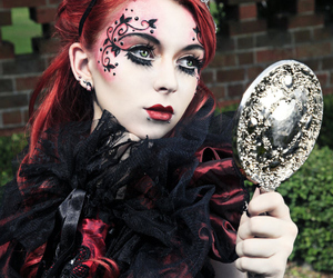 gothic, mirror, and makeup image
