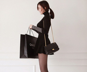 heels, chanel, and legs image