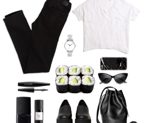 black, Polyvore, and clothes image