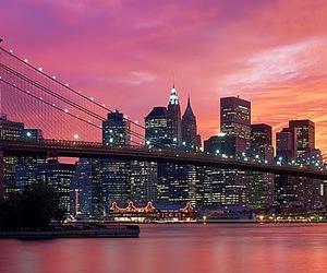 bridge, night, and Brooklyn image
