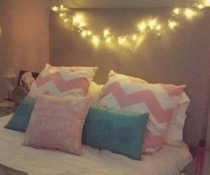 bedroom, christmas, and fairy lights image