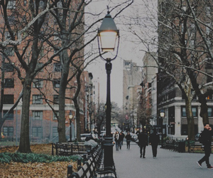 city, winter, and cold image
