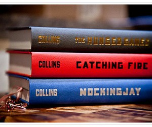 books, hunger games, and catching fire image