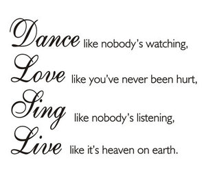 love, dance, and live image