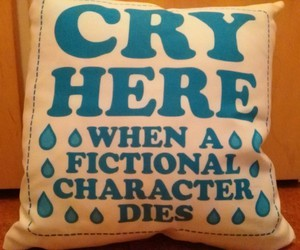 books, cry, and death image