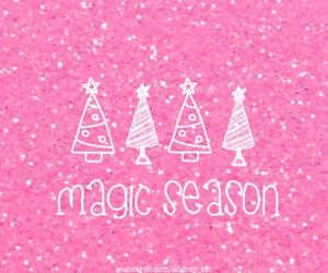 winter, christmas, and pink image