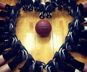Basketball, heart, and nike image