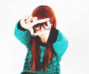 ulzzang, girl, and glasses image