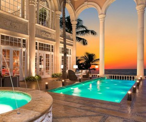 luxury, pool, and mansion image