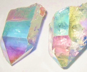 crystal, diamond, and rainbow image
