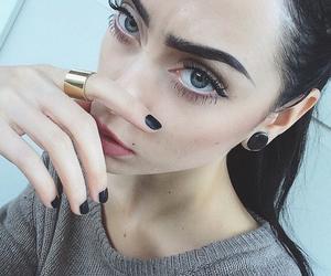 girl, black, and model image