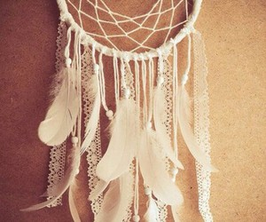 white, Dream, and dream catcher image