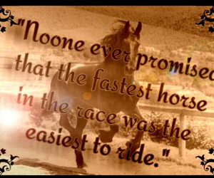 fast, horse, and promise image