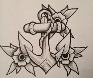 anchor, art, and drawing image