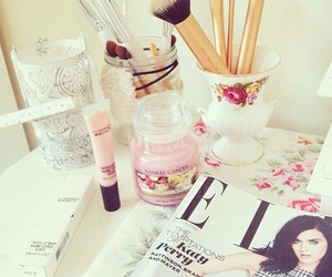 Elle, pink, and magazine image