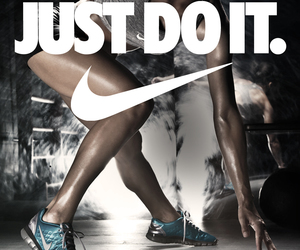 nike, workout, and fit image