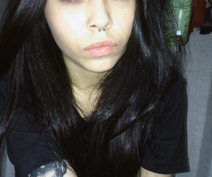 lips, me, and pale image