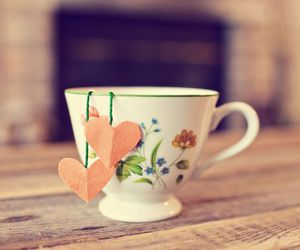 tea, hearts, and cup image