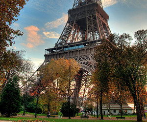 paris, city, and eiffel image