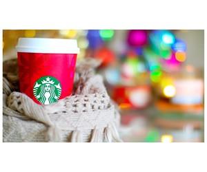 starbucks, christmas, and scarf image