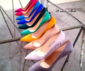 heels, colors, and shoes image