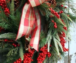 christmas, door, and festive image