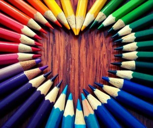 coloured pencils, colourful, and neat image