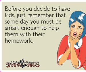decide, homework, and remember image