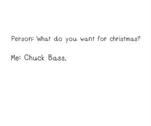 chuck bass, christmas, and gossip girl image