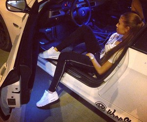 car, girl, and air max image