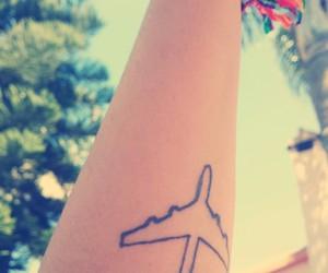airplane, free, and tattoo image