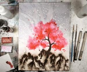 art, beautiful, and tree image