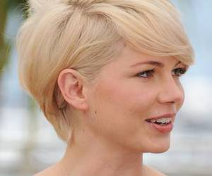 blonde, hair, and pixie image