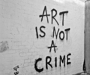 art, crime, and grunge image