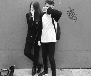 couple, boy, and black and white image