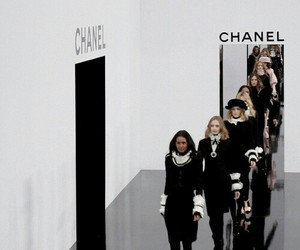 chanel, model, and runway image