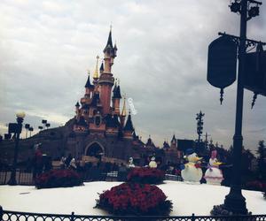 castle, paris, and winter image