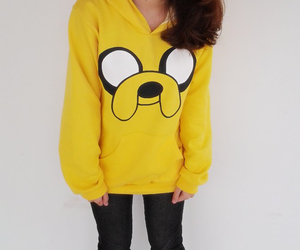 adventure time, JAKe, and cute image