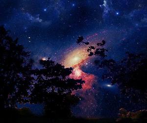 sky, galaxy, and stars image