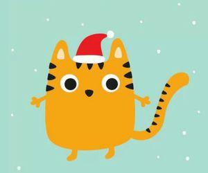 christmas, drawing, and tiger image