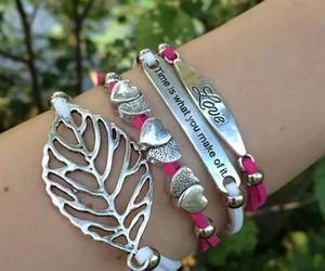 argent, bracelets, and make image