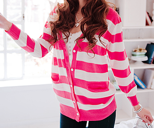 fashion, pink, and cardigan image