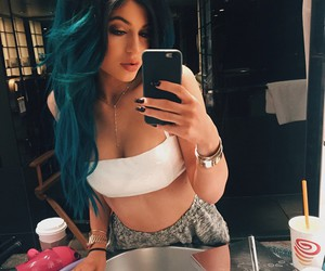 blue hair, kylie, and girl image