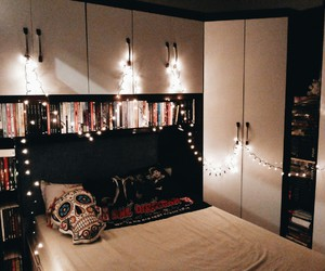 amazing, bed, and books image
