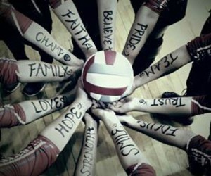 volleyball, love, and team image