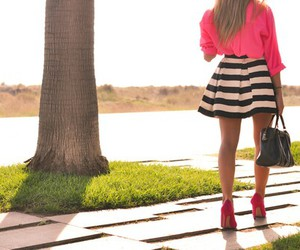 fashion, pink, and black and white image