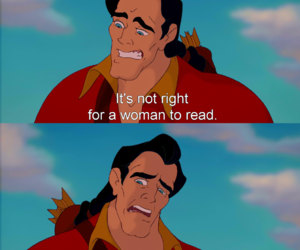 disney, beauty and the beast, and books image
