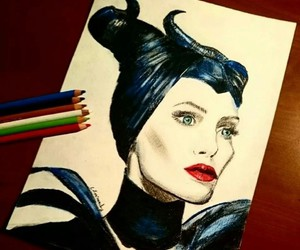 Angelina Jolie, disney, and art image